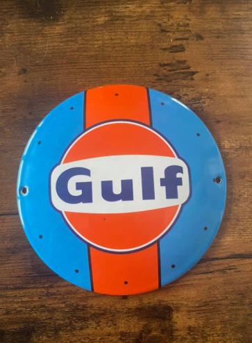 Plaque  émaillée Décorative GULF