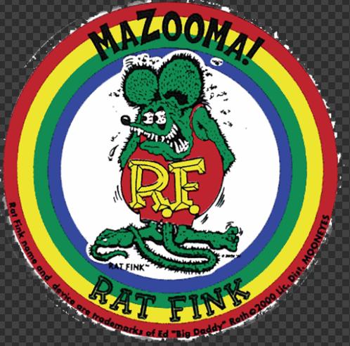 Sticker Rat Fink MAZOOMA !