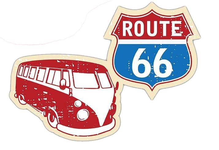 Sticker COMBI-ROUTE 66