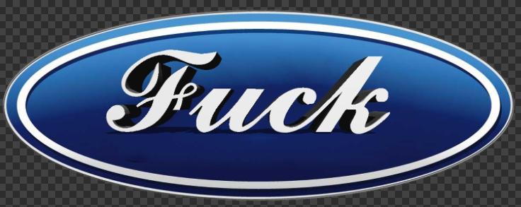 Sticker FUCK (Ford)