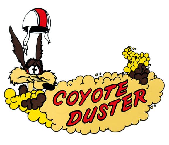 Sticker coyote duster