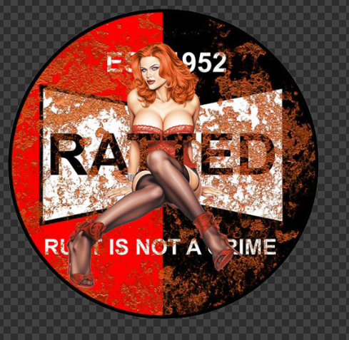 Sticker Pin-UP RATTED