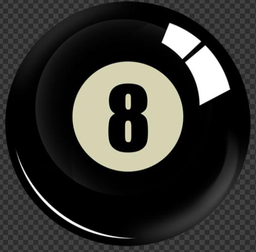 Sticker Eight Ball