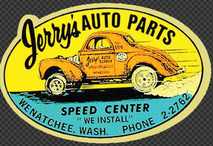Sticker Jerry's AUTO PARTS