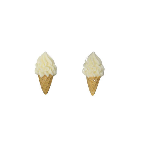 Boucles d'oreilles DELICIOUS ICE CREAM STUDS  , Rockabilly , Pin-Up , Vintage
