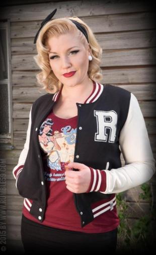 Ladies Sweat College Jacket - noir
