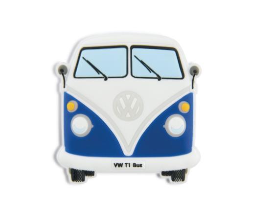 VW T1 Combi Aimant en caoutchouc - Bleu