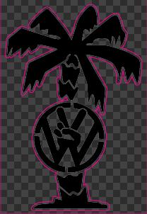 Sticker Palmier VW