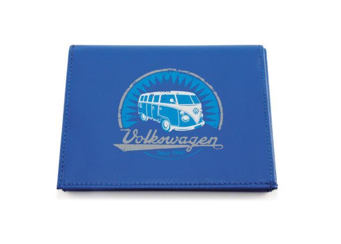 VW T1 Combi Portefeuille, Tarpauline - bleu