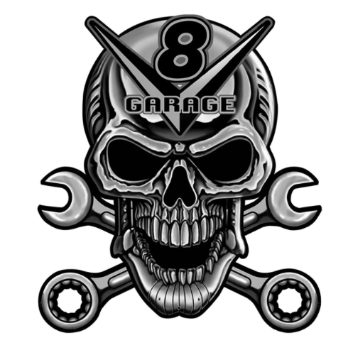 Sticker GARAGE V8 SKULL