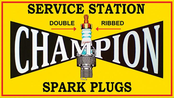 Sticker CHAMPION  SPARK PLUGS