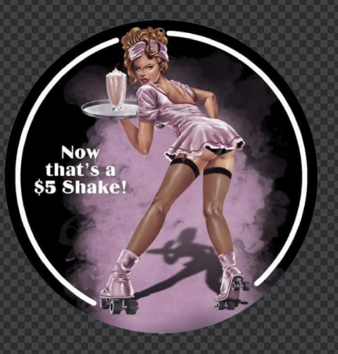 Sticker Pin-Up Diner