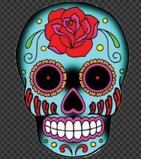 Sticker Tête de Mort Mexicaine