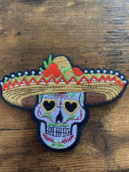Patch Skull Mexicain