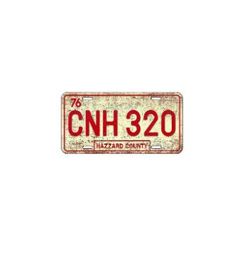 Sticker Plâque Immatriculation HAZZARD COUNTY