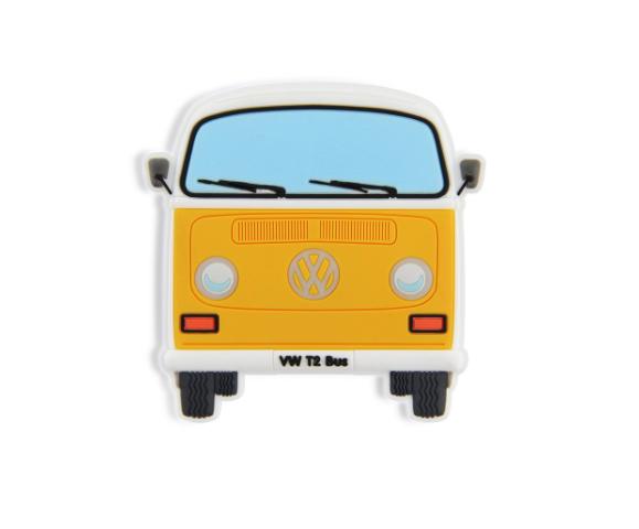 VW T2 Combi Aimant en caoutchouc - Orange