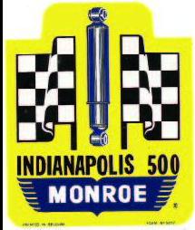 Sticker INDIANAPOLIS 500 MONROE