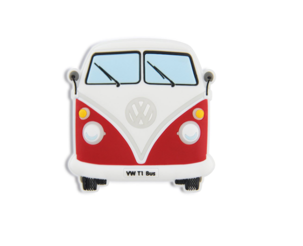 VW T1 Combi Aimant en caoutchouc - Rouge