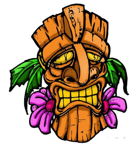 Sticker Tiki Totem