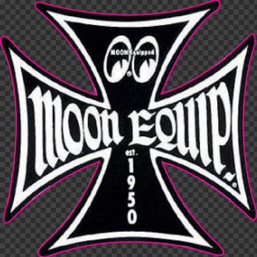 Sticker MOON EQUIP (Noir)
