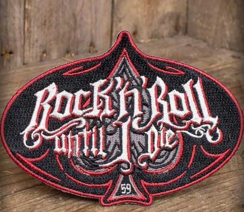 """Patch Rock'n'Roll """" Until I Die """" Rumble59"""