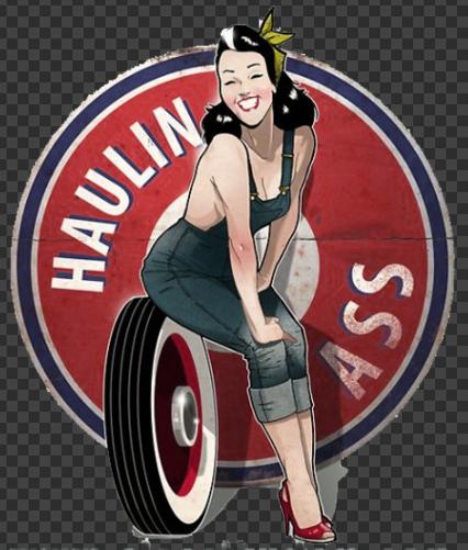 Sticker HAULIN ASS