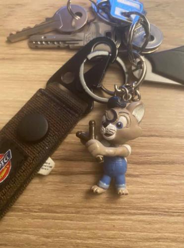 Porte-clés The Cat de chez Rumble59