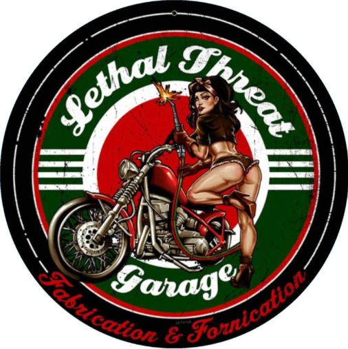 Sticker Pin-Up Lethal Fhreat Garage