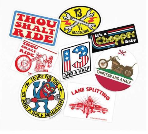 Set de 8 stickers 13 1/2
