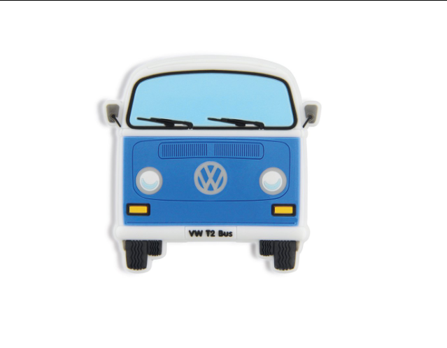 VW T2 Combi Aimant en caoutchouc - Bleu