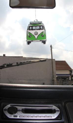 VW T1 Combi Parfum d'ambiance - Pomme verte/Vert