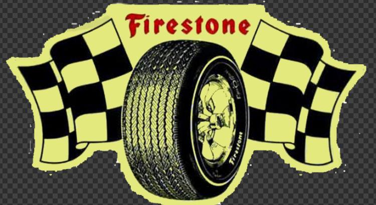 Sticker FIRESTONE +Drapeaux à damiers