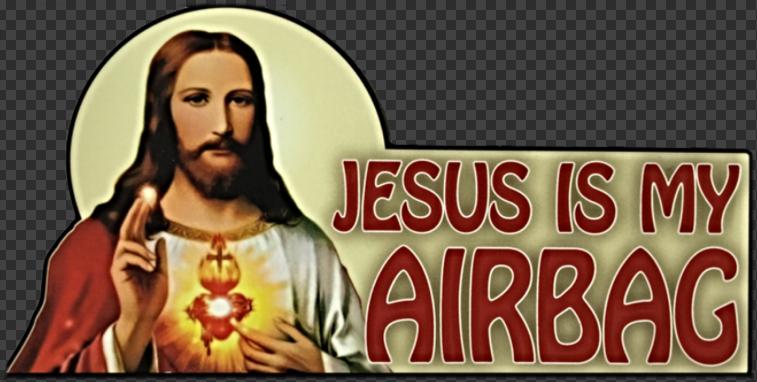 Sticker JESUS IS MY AIRBAG
