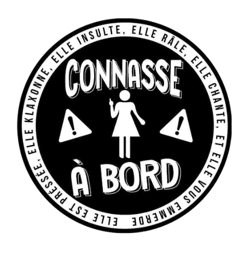 Sticker Connasse à Bord