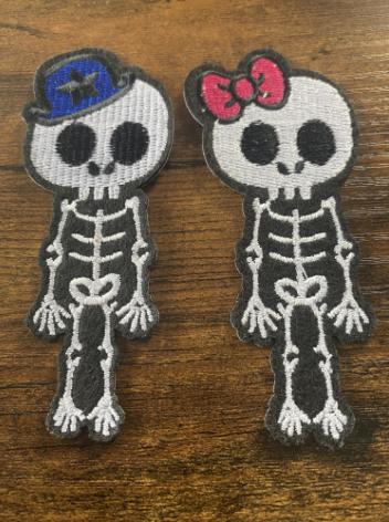 Patch  Couple Skull ( 2 pièces )