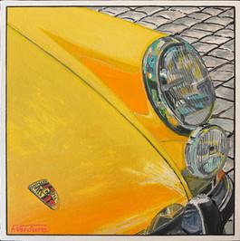 POP Porsche jaune