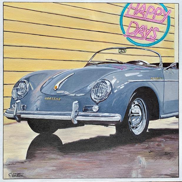 Porsche grise 356