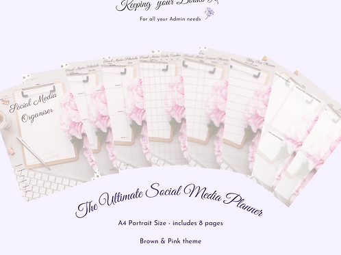 The Ultimate Social Media Planner - A4 Portrait