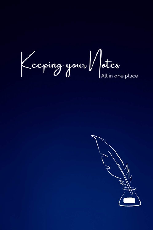 Keeping your Notes- Navy