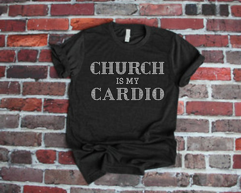 CHURCH IS MY CARDIO (White Neon)