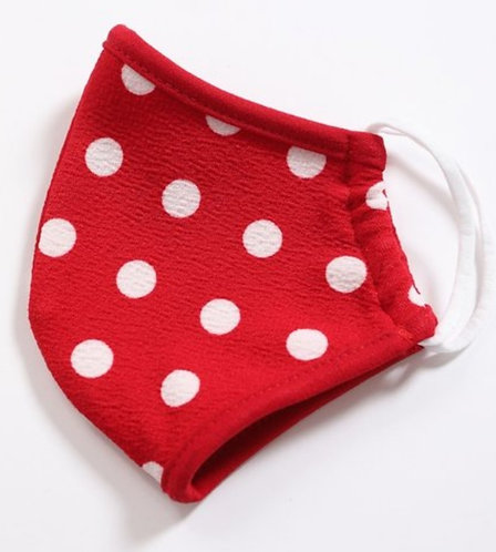 FASHION MASK (Red Polka Dot)