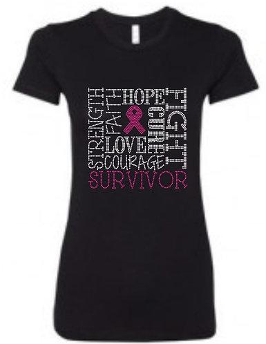 SURVIVOR WORD CLOUD 🎀(Breast Cancer)