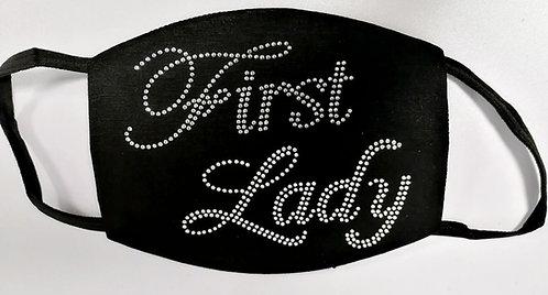 RHINESTONE FIRST LADY MASK