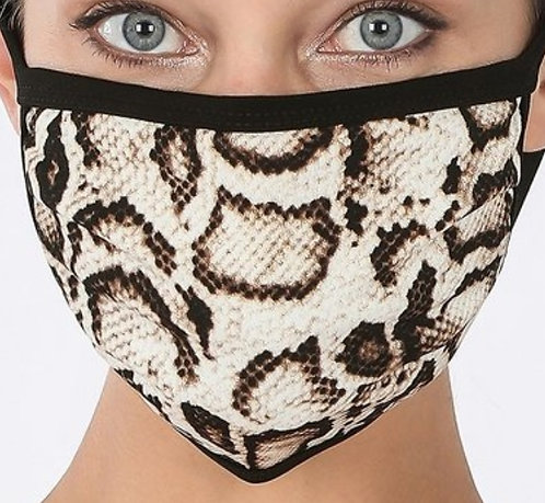 FASHION MASK (SNAKE PRINT)