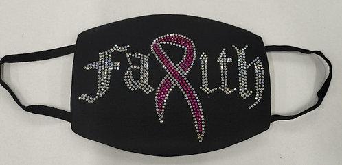 BREAST CANCER FAITH RIBBON MASK