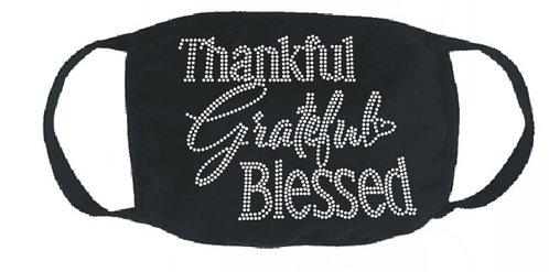 THANKFUL GRATEFUL BLESSED MASK