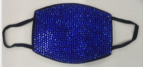 BLUE CRYSTAL RHINESTONE MASK