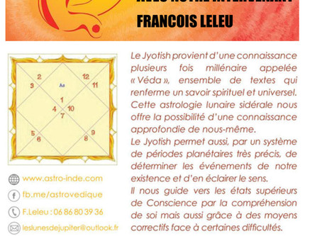 "Conférence ""Initiation à l'astrologie Jyotish"""