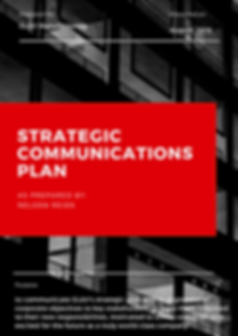 GL&V Strategic Communications plan - Fin