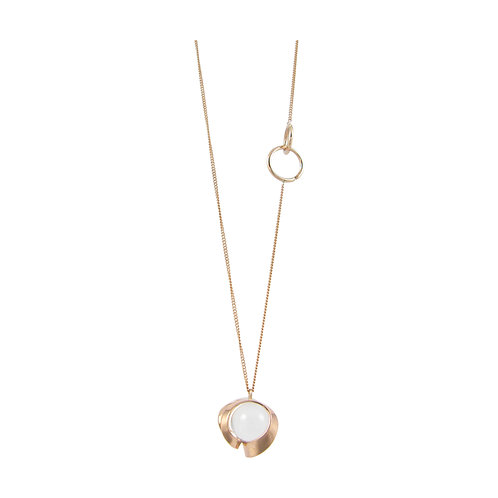 Tuohi 9ct rose gold pendant with clear quartz